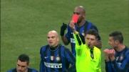 Lucio tocca col braccio in area: rigore ed espulsione per doppia ammonizione nel derby