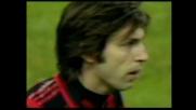 Pirlo con una punizione velenosa realizza il goal del 3-0 contro il Messina