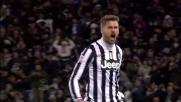 Con un colpo di testa Llorente disegna una parabola imprendibile: pareggio della Juventus con la Lazio