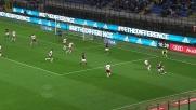 Letizia in tackle respinge il tiro di Poli in Milan-Carpi