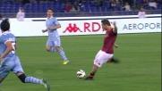 Uno slpendido tiro di Totti dalla distanza è parato da Marchetti nel derby capitolino