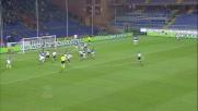 Domizzi mascherato si avvita ma la palla finisce fuori contro la Sampdoria