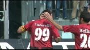 Zampata vincente di Lucarelli che riagguanta la Lazio al Picchi