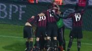 Bacca firma il goal del sorpasso per il Milan contro il Frosinone