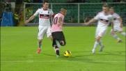 Rigore per il Palermo a causa del tocco di mano di Abate