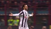 Vucinic, goal del vantaggio contro l'Inter a San Siro