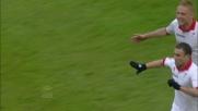 Ghezzal da fuori area regala il goal del definitivo pareggio al Bari contro la Fiorentina