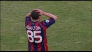 Adailton prova a piazzare il goal al Cagliari ma la mette fuori
