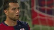 Jankovic sfiora di testa la palla davanti alla porta del Palermo