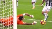 Suso col suo mancino dal limite impegna Buffon a deviare in corner