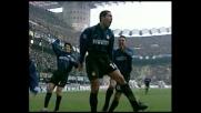 Simeone colpisce di testa, goal dell'Inter contro la Salernitana