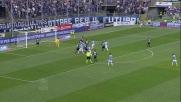 Parolo in acrobazia realizza il goal del pareggio per la Lazio