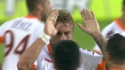 De Rossi svetta di testa contro il Cagliari e realizza un goal importantissimo