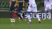 Gran tiro di Gabbiadini che colpisce il palo a Verona