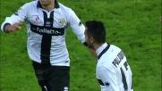 Palladino apre le marcature nel match Parma-Lazio al Tardini