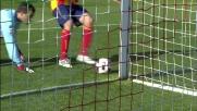 Il palo soccorre Rosati nella sfida con l'Udinese