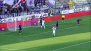 Letizia calcia sul fondo contro la Fiorentina