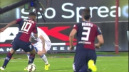 Joao Pedro si libera e segna la rete dell'1-0 spiazzando Sepe