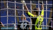 Sirigu in tuffo nega un gran goal a Zarate