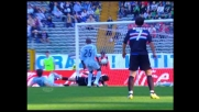 Girata di testa di Quagliarella, palo contro la Lazio