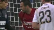 Lazaros ci prova dalla bandierina ma Handanovic è attento e para in tuffo