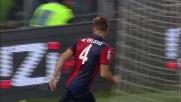 Miguel Veloso segna al Novara centrando l'angolino alla destra di Fontana
