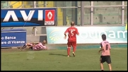 Bresciano finisce in una pozza d'acqua durante Palermo-Bari