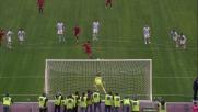 Borriello porta in vantaggio la Roma nel derby con un goal fortunoso su rigore