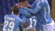 Il colpo di testa di Matri fa gioire la Lazio