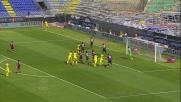 Dainelli sigla il goal vittoria per il Chievo al Sant'Elia