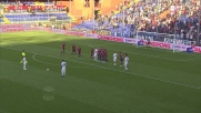 La traversa e Lamanna negano un fantastico goal su punizione a Borriello in Genoa-Atalanta