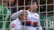 Iago Falque chiude la partita Milan-Genoa con un goal su calcio di rigore