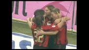 Tomasson piazza col destro il goal dell'1-0 sull'Atalanta
