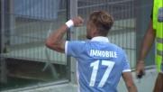 Goal di Immobile: raddoppio della Lazio contro il Sassuolo