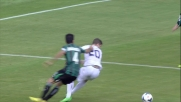 L'arbitro concede il penalty a Vrsaljko che si lascia cadere facilmente