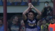 La bandiera Zanetti saluta San Siro