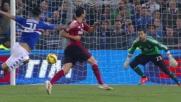 Diego Lopez chiude ogni varco alla Sampdoria parando il tiro di Soriano