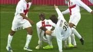 Il goal di Balotelli con il Genoa porta l'Inter sullo 0-2 a Marassi