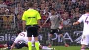 Goal di Osvaldo contro il Genoa con un tiro al volo in area