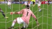 Ujkani nega il goal a Borriello in Genoa-Palermo