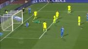 Clamorosa occasione per Pucciarelli contro il Verona: il rimpallo lo sfavorisce e la palla esce