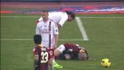 Andrea Raggi rifila un calcione ad Ibrahimovic in area regalando un rigore al Milan