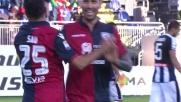 Sau segna di tacco il goal decisivo in Cagliari-Udinese