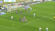 Cordova su punizione segna il goal del raddoppio del Brescia contro la Fiorentina