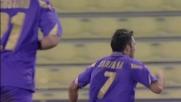 Un goal di Santana porta in vantaggio la Fiorentina al Friuli