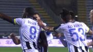Zapata conclude in goal  un contropiede perfetto e porta l'Udinese in vantaggio ad Empoli