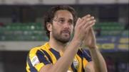 Il campione del mondo Luca Toni si congeda dal Verona e dal calcio con le lacrime agli occhi