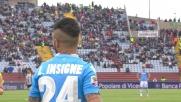 Insigne manda fuori da buona posizione contro l'Udinese