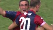 Il colpo di testa di Mesto fa impazzire la Curva Nord del Marassi contro la Juventus