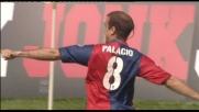 Il destro di Palacio sorprende Muslera: è il goal del vantaggio del Genoa